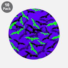 """Halloween Shadow Bats 3.5"""" Button (10 pack)"""