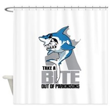 Bite Out Of Parkinsons Shower Curtain