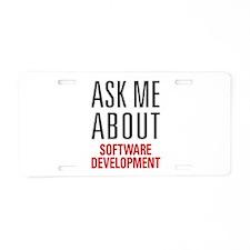 Software Development Aluminum License Plate