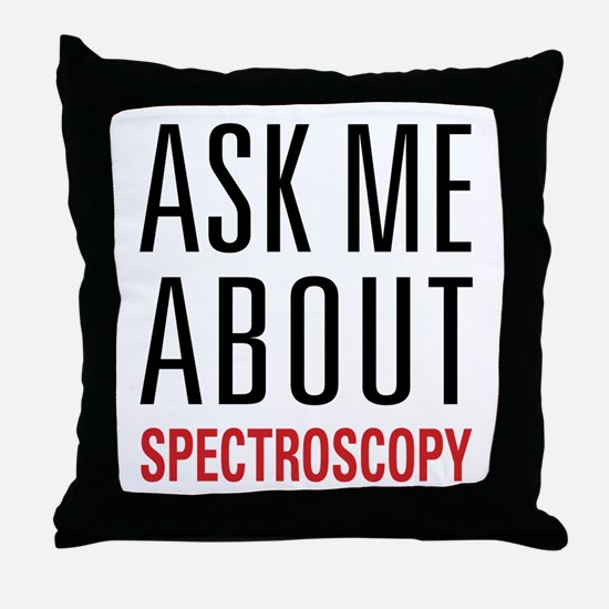 Spectroscopy Throw Pillow