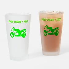 Custom Green Crotch Rocket Motorcycle Drinking Gla