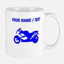 Custom Blue Crotch Rocket Motorcycle Mugs