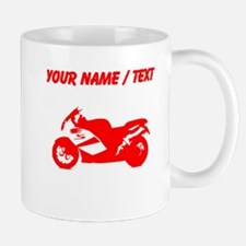 Custom Red Crotch Rocket Motorcycle Mugs