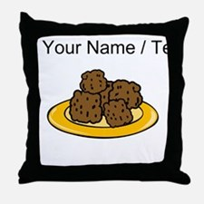 Custom Plate Of Meatballs Throw Pillow