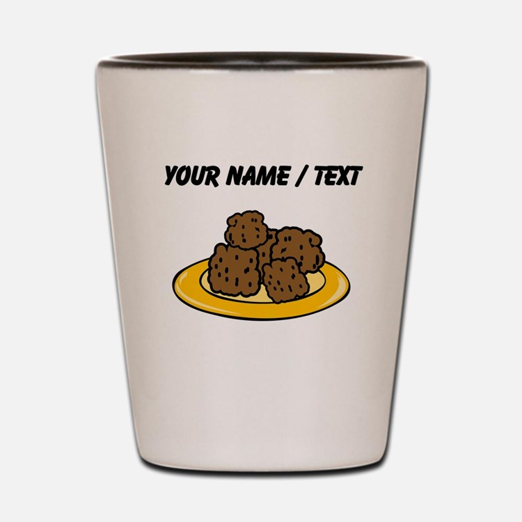 Custom Plate Of Meatballs Shot Glass