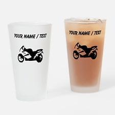 Custom Crotch Rocket Motorcycle Drinking Glass