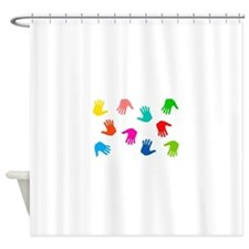 Hand Prints Shower Curtain