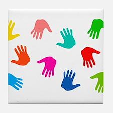 Hand Prints Tile Coaster