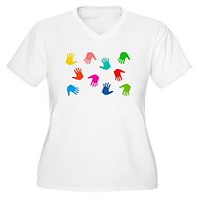 Hand Prints Plus Size T-Shirt