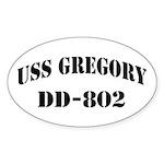 USS GREGORY Sticker (Oval)