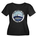 USS GREG Women's Plus Size Scoop Neck Dark T-Shirt