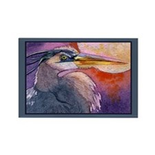 Red Sky Heron Rectangle Magnet