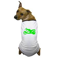 Green Crotch Rocket Motorcycle Dog T-Shirt