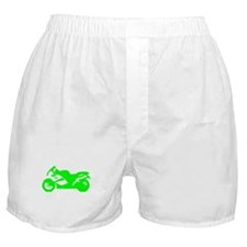 Green Crotch Rocket Motorcycle Boxer Shorts