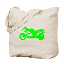 Green Crotch Rocket Motorcycle Tote Bag
