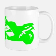 Green Crotch Rocket Motorcycle Mugs