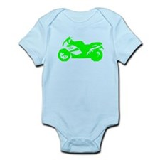 Green Crotch Rocket Motorcycle Body Suit