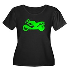 Green Crotch Rocket Motorcycle Plus Size T-Shirt