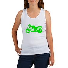 Green Crotch Rocket Motorcycle Tank Top