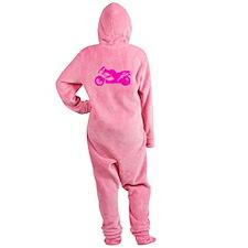 Pink Crotch Rocket Motorcycle Footed Pajamas