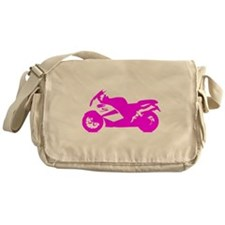 Pink Crotch Rocket Motorcycle Messenger Bag