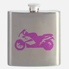 Pink Crotch Rocket Motorcycle Flask