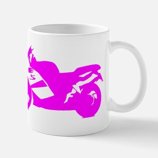 Pink Crotch Rocket Motorcycle Mugs