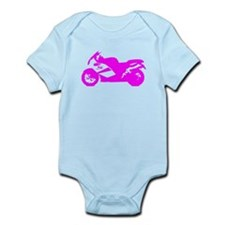 Pink Crotch Rocket Motorcycle Body Suit