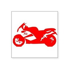Red Crotch Rocket Motorcycle Sticker