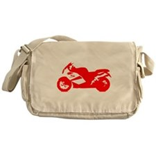 Red Crotch Rocket Motorcycle Messenger Bag