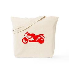 Red Crotch Rocket Motorcycle Tote Bag