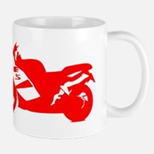 Red Crotch Rocket Motorcycle Mugs