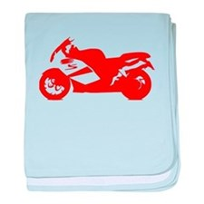 Red Crotch Rocket Motorcycle baby blanket