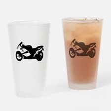 Crotch Rocket Motorcycle Drinking Glass