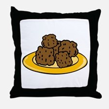 Plate Of Meatballs Throw Pillow