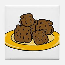 Plate Of Meatballs Tile Coaster