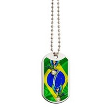 Brazil Macaw with Soccer Ball Dog Tags