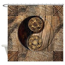 Harvest Moons Celtic Yin Yang Shower Curtain