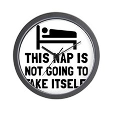 Nap Take Itself Wall Clock