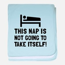 Nap Take Itself baby blanket