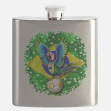 Brazil Macaw with Soccer Ball Flask