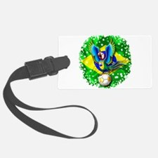 Brazil Macaw with Soccer Ball Luggage Tag