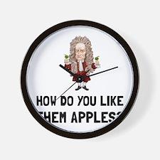 Newton Like Them Apples Wall Clock