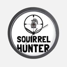 Squirrel Hunter Wall Clock