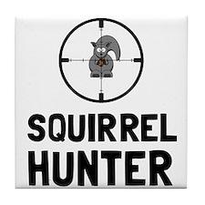 Squirrel Hunter Tile Coaster