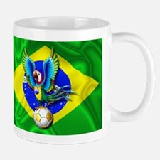 Brazil Macaw with Soccer Ball Mugs