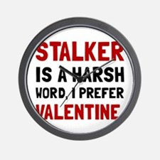 Stalker Valentine Wall Clock
