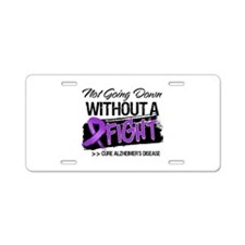 Cure Alzheimers Disease Aluminum License Plate