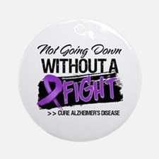 Cure Alzheimers Disease Ornament (Round)
