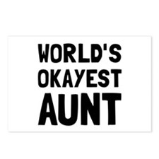 Worlds Okayest Aunt Postcards (Package of 8)